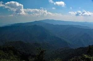 view of mountains from mount leconte